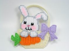 homemade easter baskets with plastic canvas | Easter Basket Boutique Plastic Canvas Pattern ePattern – Leisure ...