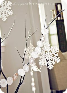 or you could use the white sticker to make a snow garland