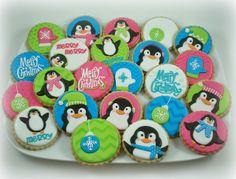 Cute Christmas Penguin cookies!