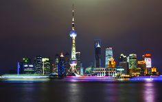 Beautiful colorful pictures and Gifs: Cities Shanghai Night, Shanghai City, Night Time Photography, Photography Tips, Travel Photography, Landscape Photography, Bangkok Thailand, Shanghai Skyline, Cities