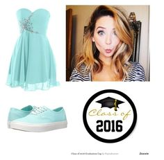 """""""Bestie's grad party tonight!!"""" by klahey14 ❤ liked on Polyvore featuring Vans"""