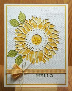 Sunflower Cards, Send A Card, Stampin Up Catalog, Stamping Up Cards, Fall Cards, Christmas Cards, Cute Cards, 3d Cards, Folded Cards