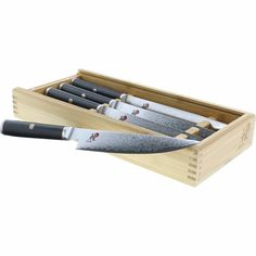 Shop for Miyabi Kaizen Steak Knife Set - Stainless Steel. Get free delivery On EVERYTHING* Overstock - Your Online Kitchen & Dining Outlet Store! Get in rewards with Club O!