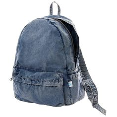 Pre-owned Issey Miyake Cauliflower Backpack (€180) ❤ liked on Polyvore featuring bags, backpacks, backpack, denim, light weight backpack, blue backpack, knapsack bags, preowned bags and rucksack bag