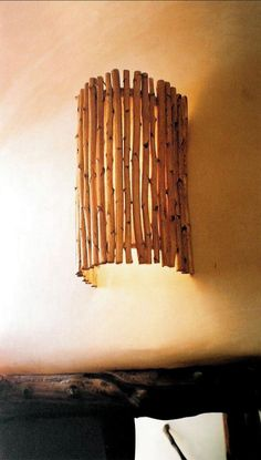 Sconces | Earth Elegance by Tracy Collins made with yucca stalks Driftwood Lamp, Driftwood Crafts, Luminaire Original, Bamboo Lamp, Diy Light Fixtures, Lampshade Designs, Bamboo Crafts, Wooden Lamp, Diy Home Crafts