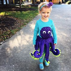Octopus Costume PATTERN for Toddlers and Preschoolers 2 - 4 (or squid costume! Squid Costume, Octopus Costume, Free Childrens Knitting Patterns, Easy Sewing Patterns, Toddler Boy Costumes, Baby Costumes, First Halloween, Halloween Kids, Halloween Costumes