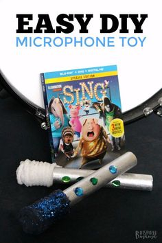 Easy DIY Kids Microphone Toy - Inspired by the Movie SING - Perfect for imaginative play and encouraging a love of music and dance! Sponsored by #SingMovie @parentandchild