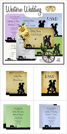 Western Wedding Invi