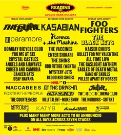 Reading and Leeds Festival aahhh i want to goo!!