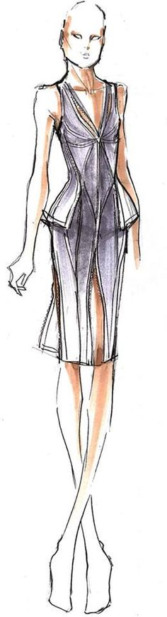 Herve Leger sketch| Be inspirational  ❥|Mz. Manerz: Being well dressed is a beautiful form of confidence, happiness & politeness