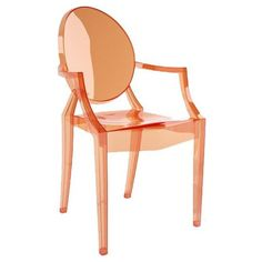 Louis Ghost Arm Chair in Sunset Orange by Kartell -- Ooh, I'm smitten with this orange version.