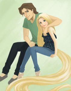 Modern Rapunzel & Flynn