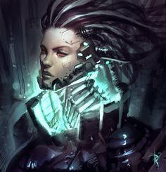 Cyborg Lady by Zeronis on deviantART