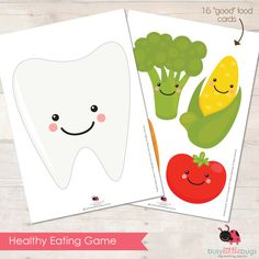 Healthy Eating good food cards