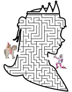 Princess Maze: Help the Princess through the maze to find her knight Colouring Pages, Coloring Pages For Kids, Coloring Sheets, Preschool Activities, Activities For Kids, Fairy Tale Crafts, Printable Mazes, Free Printable, Maze Worksheet