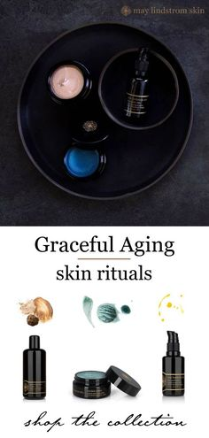 Skincare routine for skin concerns with graceful aging skin. Heal and plump skin while reducing wrinkles and fine lines. Our natural skincare products help with inflammation, irritation, dehydration, reducing puffiness, diminishing dark circles, decreasing redness and hydrating delicate skin.  - May Lindstrom Skin