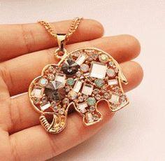 Crystal Elephant Fashion Necklace | LilyFair Jewelry