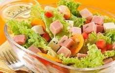 salada com frios
