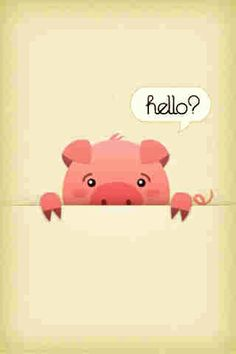Pig lock screen/wallpaper by lea Pig Wallpaper, Wallpaper Backgrounds, Screen Wallpaper, Wallpapers, Phone Backgrounds, This Little Piggy, Little Pigs, Cartoon Rooster, Pig Pen