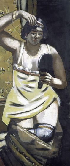 Max Beckmann (German, 1884-1950), The Gypsy Woman, 1928. Oil on canvas, 136 x 58 cm.