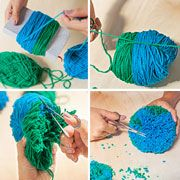 How to Make a Pom-Pom Gift Topper: Add a personal touch to your gift-giving, whatever the occasion. #gifts #DIY #yarn
