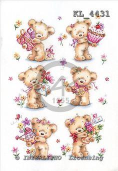 Interlitho, CUTE ANIMALS, paintings+++++,KL4422/1,#ac#,stickers stickers illustrations, pinturas