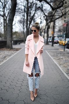Trench coat and shoes