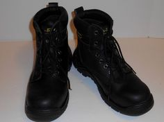 Ad Tec Steel Toe Black Work Boots Men's Size 9.5 #AdTec #WorkSafety