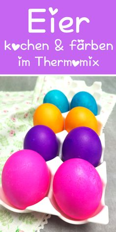 Eier kochen & färben im Thermomix. Boiling and coloring eggs in the Thermomix and all in one step. Chick Deviled Eggs Recipe, Shrimp Deviled Eggs, Colored Deviled Eggs, Deviled Egg Salad, Bacon Deviled Eggs, Easter Recipes, Egg Recipes, Southern Deviled Eggs, Egg Dye