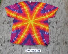 Golden Starburst on Purple Tie Dye TShirt
