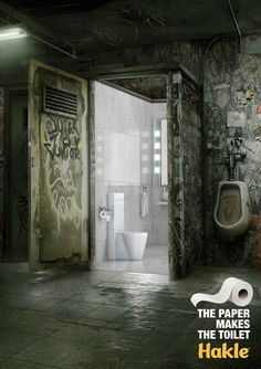 Hakle: The Paper Makes The Toilet. Advertising Agency: Leo Burnett, Berlin, Germany