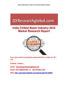 India chilled beam industry 2015 market research report