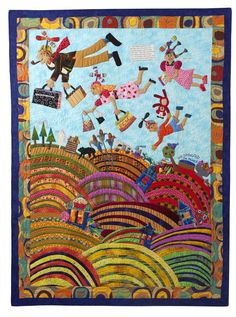 Family whirleygigs quilt  Mary Lou Weidman