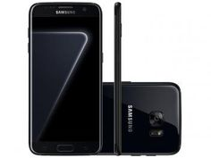 "Smartphone Samsung Galaxy S7 Edge 128GB - Black Piano 4G Câm. 12MP + Selfie 5MP Tela 5.5"""