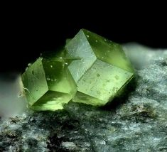 Andradite var. Demantoide. Geisspfad area, Binn Valley, Wallis, Switzerland Photo © Volker Betz