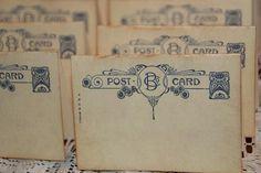 100  Wedding Place Cards  Vintage Post Cards by GreenAcresCottage, $60.00