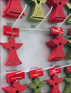 The regularity of this Multi-Hook Christmas Angle raises color questions. The massed red called out from a distance, closer up one longed for more color choices, but in the final purchase all match. Money Cards, You Are Special, Gift Vouchers, Gift Certificates, Christmas Angels, Hanukkah, Closer, Distance, Hooks