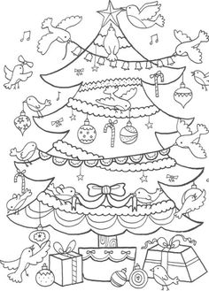 Here are the Interesting Christmas Tree Coloring Page. This post about Interesting Christmas Tree Coloring Page was posted under the Coloring Pages . Noel Christmas, Christmas Colors, Christmas Tree Decorations, Christmas Crafts, Coloring Book Pages, Printable Coloring Pages, Coloring Sheets, Christmas Activities, Christmas Printables