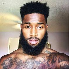 BeardTooDeep// Lee #alphablackmen #blackman #blackmen #alpha #guys #swag #dope #selfie #hunk #atlanta #miami #dmv #newyork #la #london #paris #urban  #eyecandy #fitguys #beardgang #fitness #muscles #chocolate #beard #guyswithtattoos by alphablackmen