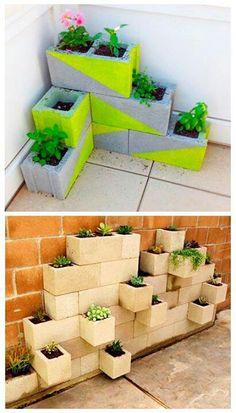 Hortas com blocos