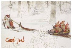 Nissi, by Trygve Marentiusa Davids (Trygve M. Forest Creatures, Woodland Creatures, Scandinavian Gnomes, Scandinavian Christmas, Christmas Illustration, Illustration Art, Christmas Photos, Christmas Cards, Christmas Greetings