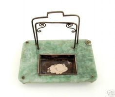 Early 1800s Chinese Jade & Silver Scholar's Desk Set