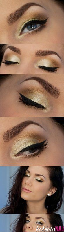 perfect golden green makeup