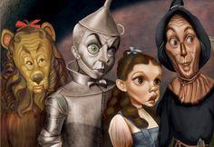 Lion,Tinman, Dorothy, Scarecrow