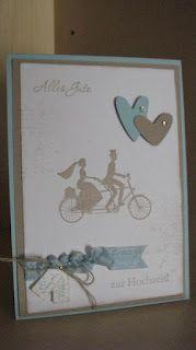 Knabberchens-Stempelblog: eine Hochzeitskarte