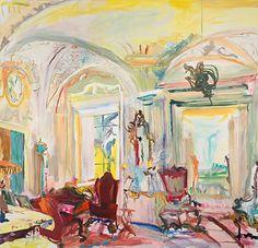 Villa La Pietra (I Tatti/Tuscan villas series),. Irish Painters, Female Painters, Art And Architecture, Landscape Art, Artist At Work, Love Art, Contemporary Artists, Art Images, Art Museum