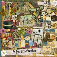 This kit has lots of fun elements, great kit for many pages.