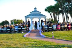 Beaufort Weddings - Wedding ceremony held in the gazebo at Traditions on MCRD Parris Island in Beaufort, SC