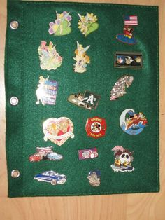 DIY Sheets for a Pin Collecting Binder! Or great idea for cover decor