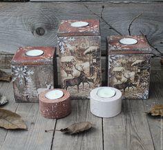 """Купить """"Серебряное копытце"""" набор подсвечников - коричневый, подарок, Новый Год, новогодний подарок, подсвечник"""